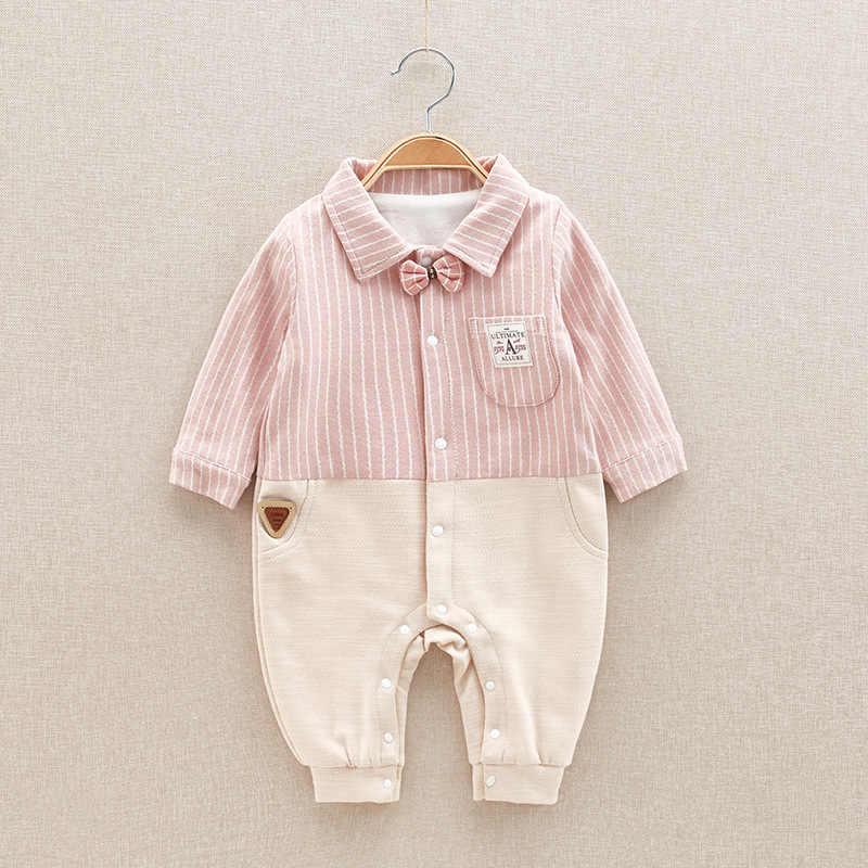 2019 Bayi Baru Lahir Kapas Baju Monyet Bayi Anak Gadis Formal Jumpsuit Anak-anak Musim Gugur Balita Lengan Panjang Pakaian Lucu Kartun Pakaian