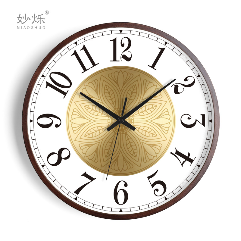 American Creative Wall Clock Wood Living Room Luxury Clocks Wall Home Decor Silent Bedroom Art Watch Home Duvar Saati Gift FZ714