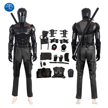 G I Joe Retaliation Snake Eyes Cosplay Costume Halloween Fancy Adult Men Costume Custom Made Outfit Warriors Suit цена 2017