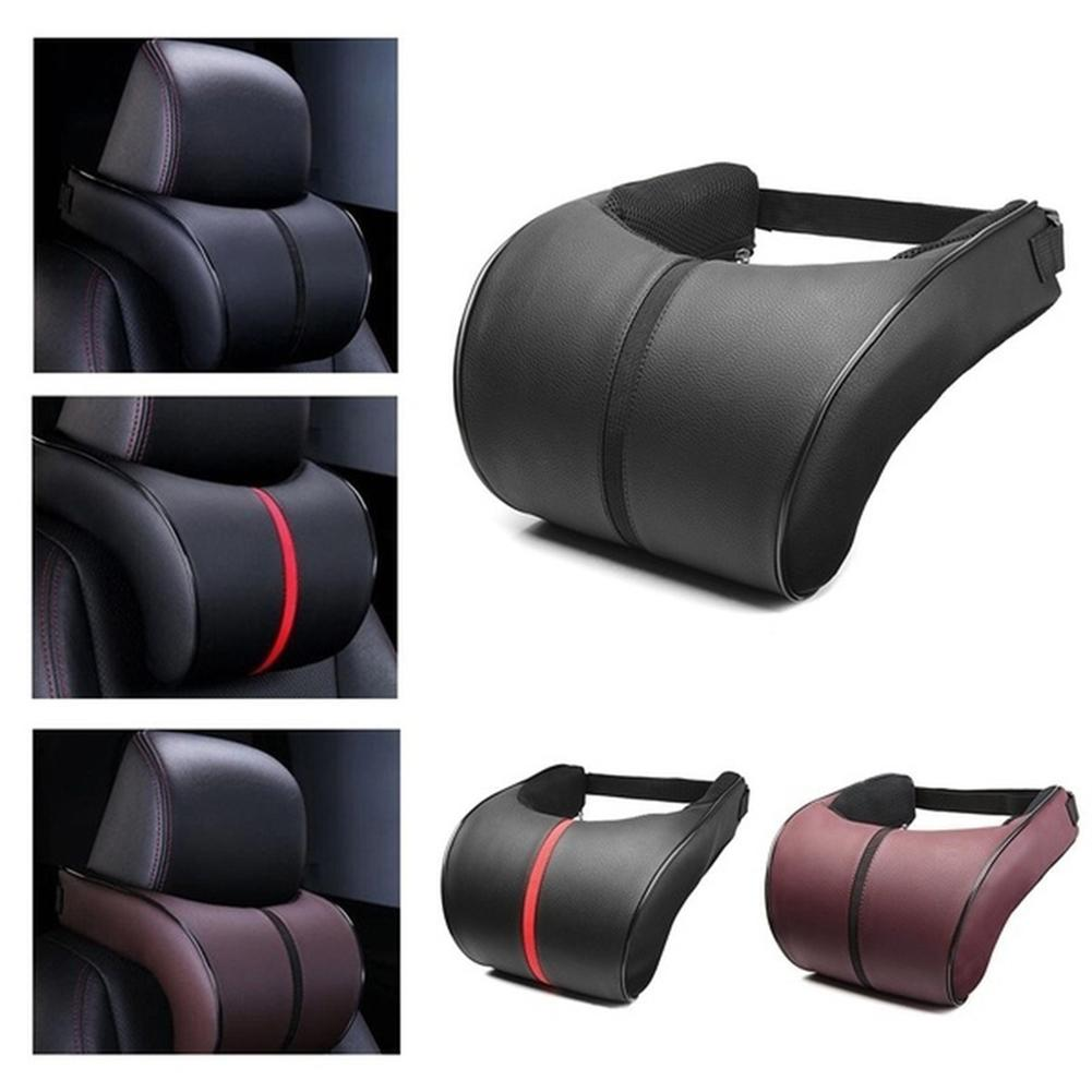 Soft Memory Foam Auto Car Seat Head Pillow Neck Protector Headrest Cushion Pad