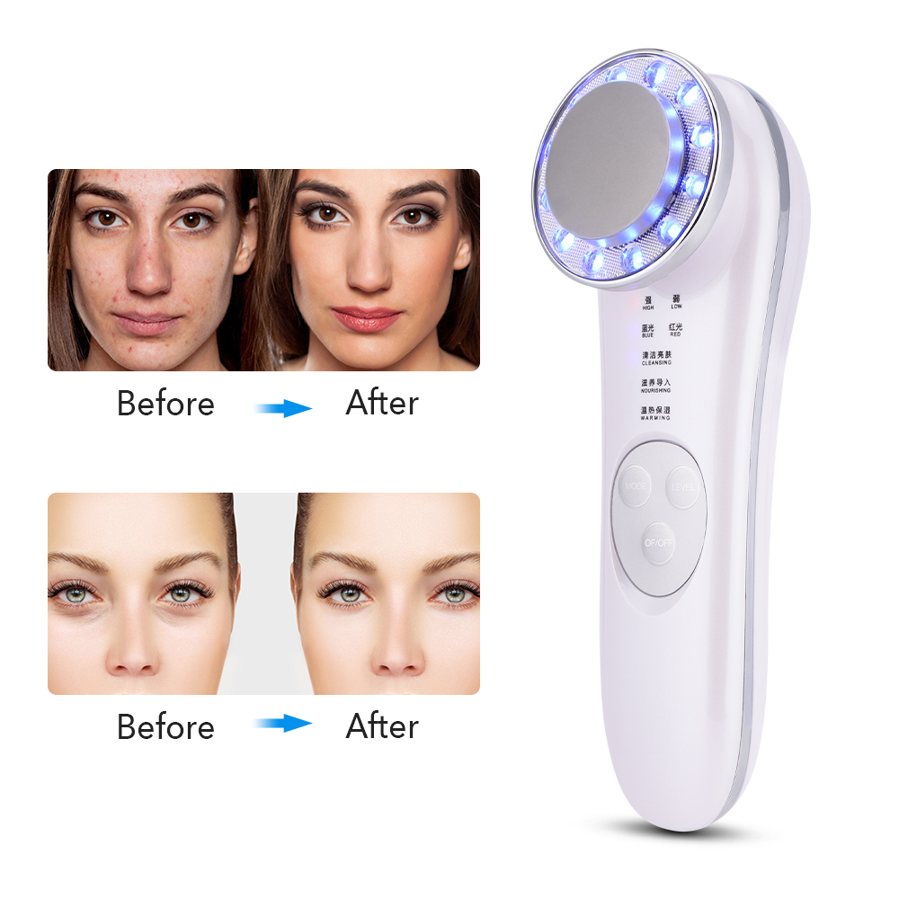 7 in 1 LED Facial Massager Photon Ultrasonic Skin Lifting Wrinkle Remover Anti Aging Tightening Skin Care Tool Beauty Device 13