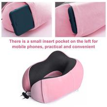 Travel Pillow Memory-Foam U-Shaped Beach-Sleep Portable Cotton Home Car Slow Rebound