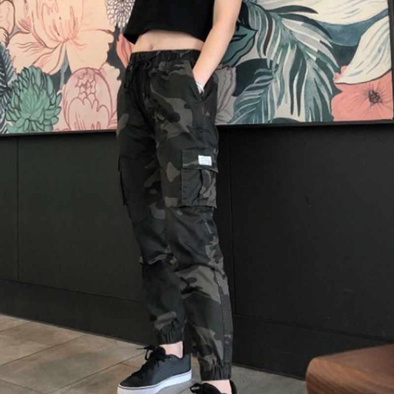 Camuflaje Cargo Pantalones Mujer Streetwear Casual Joggers Alta Cintura Pantalones Sueltos Mujer Pantalones Al Aire Libre Pantalones Y Pantalones Capri Aliexpress