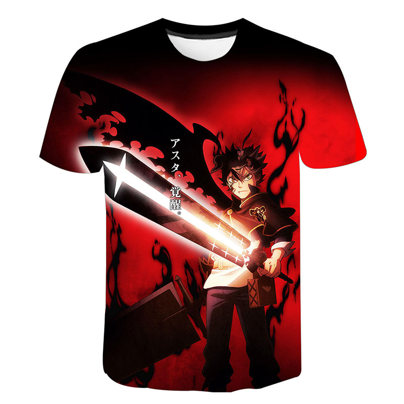 2020 Men Women Children Black Clover 3D T Shirt Fashion Anime Boy Girl T-Shirt Cool Tees Harajuku Short Sleeve Streetwear Tops