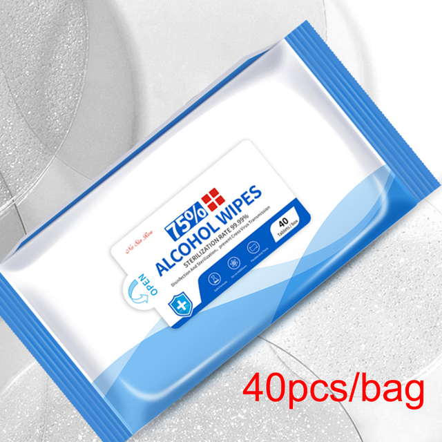 75% Disinfecting Alcohol Wipes Disposable Hand Wipes Skin Cleaning Bacteria Disinfection Wipes Alcohol Cotton 50Pcs/Bag 5