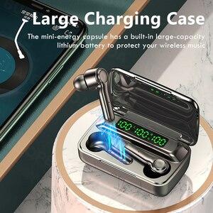 Image 2 - Écouteurs sans fil Bluetooth, oreillettes avec micro, affichage de puissance LED, casque découte pour sport, étanche, HiFi, stéréo, musique