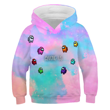 2020 Among Us Hoodie Kids Size Boys&Girls Long Sleeve Hooded Sweatshirts Children's Hoodies Street Style Games Harajuku Clothes 1