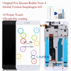 Image 1 - Original Screen For Xiaomi Redmi Note 4X LCD Display Frame Touch Panel Snapdragon 625 Note 4 Global 4GB 64GB LCD Digitizer Parts