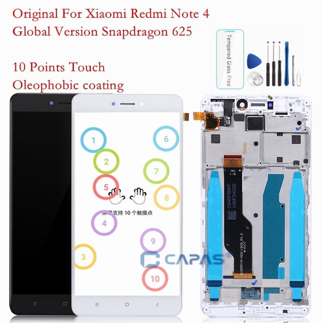 Original Screen For Xiaomi Redmi Note 4X LCD Display Frame Touch Panel Snapdragon 625 Note 4 Global 4GB 64GB LCD Digitizer Parts