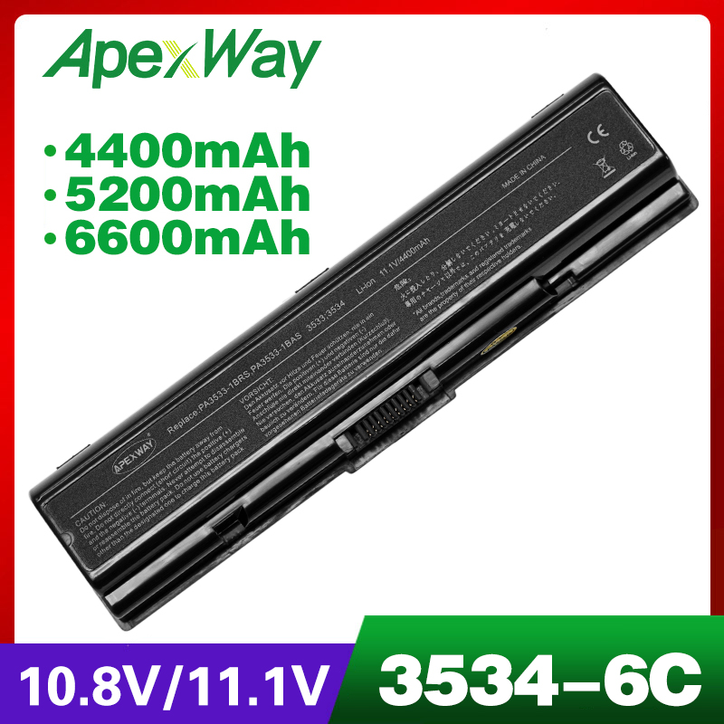 4400mAh Laptop Battery For Toshiba Satellite PA3534 L455D L500 L500D L505 L505D L550 L550D L555 L555D M200 Pro A200 A210 A300