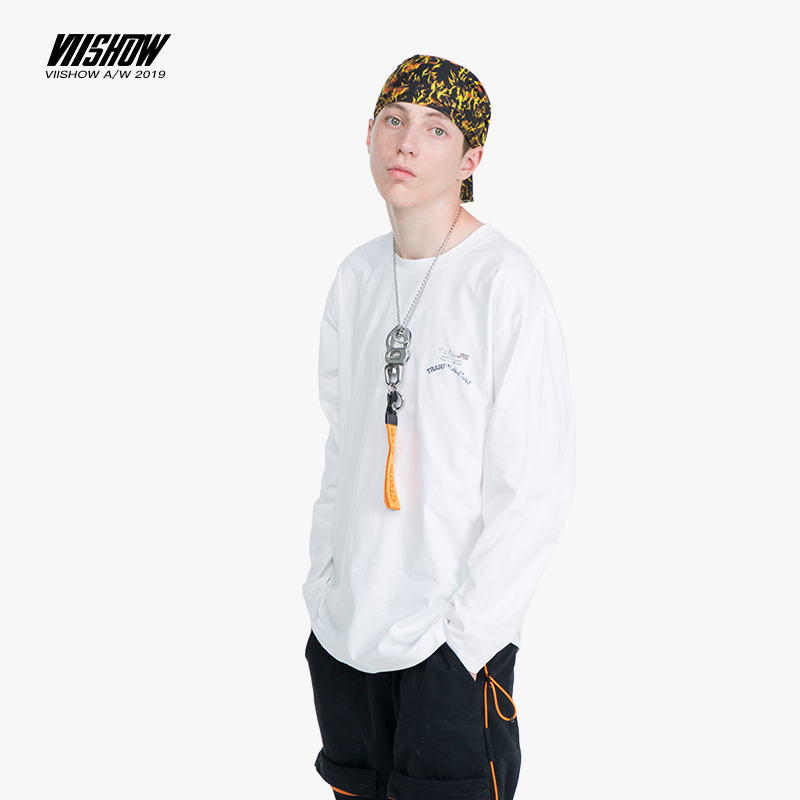 VIISHOW 2019 brand Mens T Shirt O Neck Print Long Sleeve Men T Shirt For Male Cotton TShirt casual Man Tees TC2263193 in T Shirts from Men 39 s Clothing