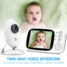 Wireless Video Baby Monitor 3.5 inch Color High Resolution Nanny Baby Phone Camera 2 Way Night Vision Temperature Monitoring