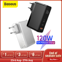 Baseus 120W GaN caricabatterie Quick Charge 3.0 4.0 per MacBook Pro cavo di ricarica rapida per Huawei Mate 10 caricatore da USB C a tipo C PD