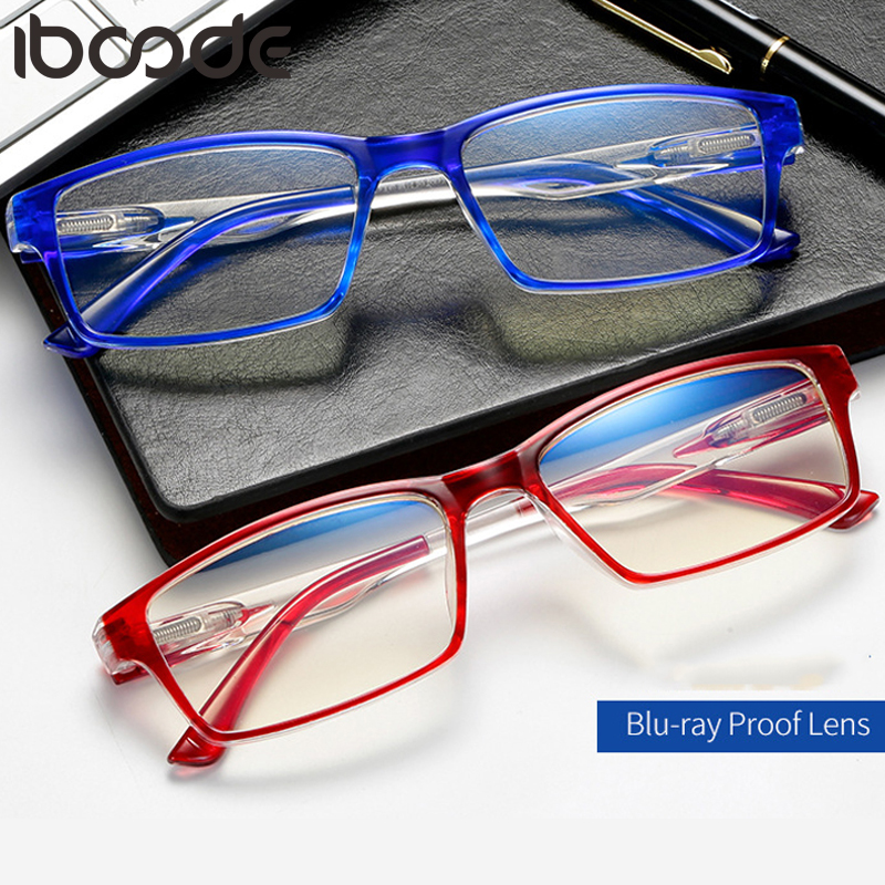 Iboode Anti Blue Light Reading Glasses Men Women Magnifying Presbyopia Hyperopia Eyeglasses Diopter 0 To +4.0 Oculos De Grau New