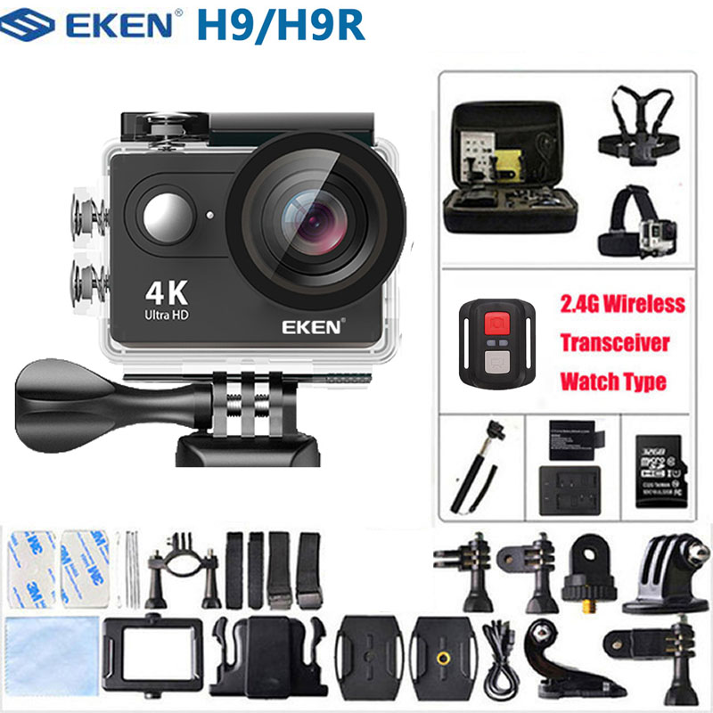 Caméra d'action EKEN H9/H9R 4K Ultra HD 1080 p/60fps Mini casque caméra WiFi étanche pro Sport