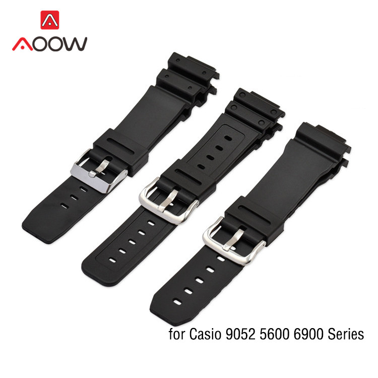 Resin Strap For Casio G-shock 9052 5600 6900 Series 16mm Men Sport Waterproof Rubber Replacement Bracelet Band Watch Accessories