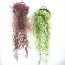 Simulation Green Vine Fake Flowers Balcony Garland Basket Accessories Plastic Artificial Weeping Willow Hanging Wall Decoration barbour neuston twill willow green page 6