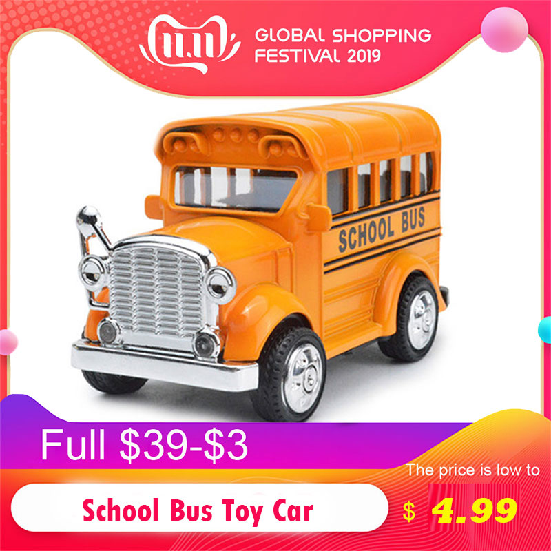 1:38 Hot School Bus Alloy Pull Back Diecast Model Toy Car Vehicle Brinquedos Baby Toys Educational For Kids Christmas Gift