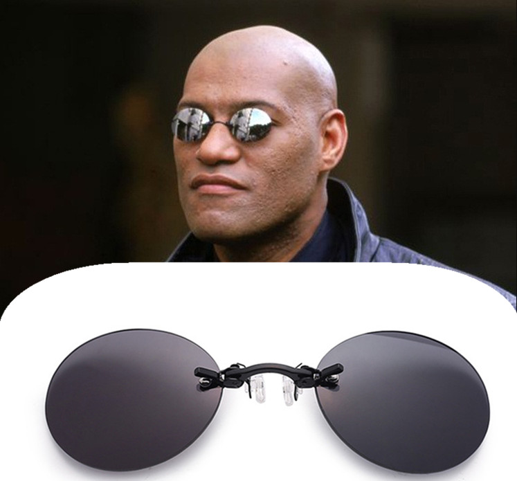 Mini Rimless Sunglasses Clip on Nose Lens Round Glasses Fashion Frameless Vintage Men Eyeglasses UV400 Driver Goggles|Driver Goggles|   - AliExpress