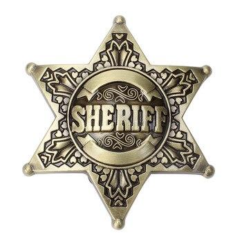waistband DIY Sheriff Belt Buckle homemade handmade belt Components Western cowboy police printio sheriff