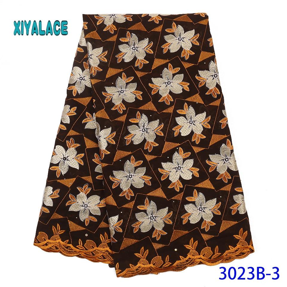 African Fabric Cotton Cloth Nigerian High Quality DIY Handmade Textile Sewing Patchwork French Bridal For Bags Dress YA3023B-3