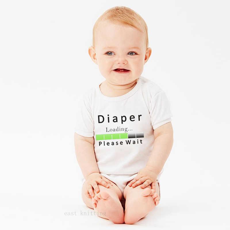 Детское боди с подгузниками; коллекция 2019 года; Летний комбинезон для новорожденных девочек и мальчиков; милый комбинезон с короткими рукавами; одежда
