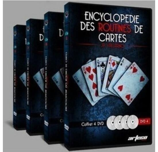Encyclopedie Des Routines De Cartes By Jean Pierre Vallarino Vol.1-4 - Magic Tricks