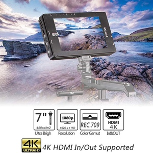 FOTGA A70T 7 Inch FHD Video On-Camera Field Monitor IPS Presssn 4K HDMI Input/Output Dual NP-F Battery Plate for A7S II GH5