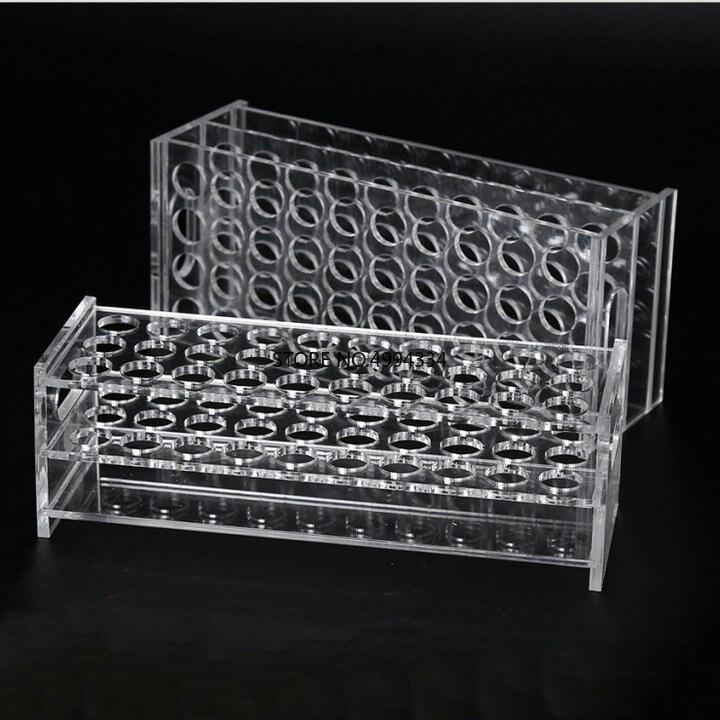 1Piece/lot  Plastic tube rack holder, Organic glass test tube stand support, rack for tubes Diameter 31mm 30/40/50holes