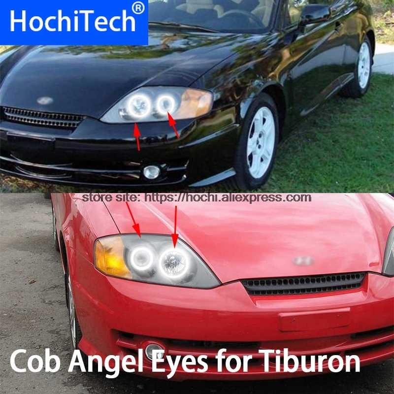 Для Hyundai Tiburon 2003 2004 2005 2006 COB Led DRL Дневной свет Белый Halo Cob Ангельские глазки кольцо