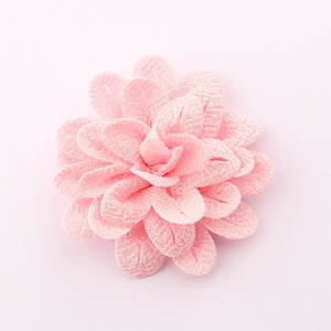 "Image 5 - 50pcs 6.2 cm 2.4 ""헤어 액세서리에 대 한 빈티지 단색 머리 꽃 폴 리 에스테 르 귀여운 인공 로즈 패브릭 꽃 머리 착용에 대 한"