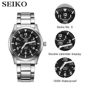 Image 2 - Seiko zegarek męski 5 automatyczny zegarek luksusowej marki wodoodporny zegarek sportowy data męskie zegarki zegarek do nurkowania relogio masculin SNZG
