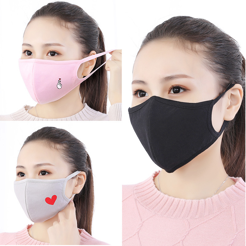 Fashion Black Mouth Mask Anti Dust Warm Mouth-muffle Mouth Face Mask Cotton Mask On Face For Man Anime Cartoon Mouth Mask 2019