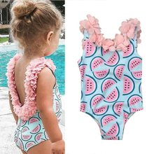 Toddler Swimwear Infant Baby Girls Clothes Watermelon Swimsuit Swimwear Swimming Bikini(China)