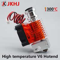 E3d v6 hotend kit de alta temperatura versão 300 graus impressora 3d peças 0.4/1.75mm j-cabeça extrusora remota 12 v 24 v final quente