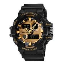 Smael спортивные часы Водонепроницаемый Для мужчин светодиодный
