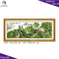 Joy Sunday Great Wall Home Decor F115 14CT 11CT Counted and Stamped Chinese Dragon Spirit in Flourishing Age Cross Stitch Kits