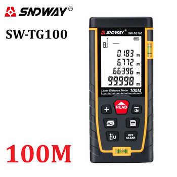 SNDWAY digitale laser maßband 100m laser-distanzmessgerät ranger finder mini trena Laser-entfernungsmesser herrscher roulette telemeter