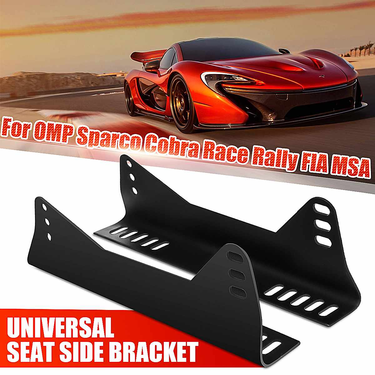 Pair Universal Car Seat Side Mount Brackets Iron Mounting Bracket For Competition Auto For OMP/Cobra/Sabelt