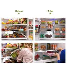 Smart Design Refrigerator Pull Out Bin Home Organizer Extendable Handle for Fridges Freezers Food Storage Kitchen smart spaces storage at home