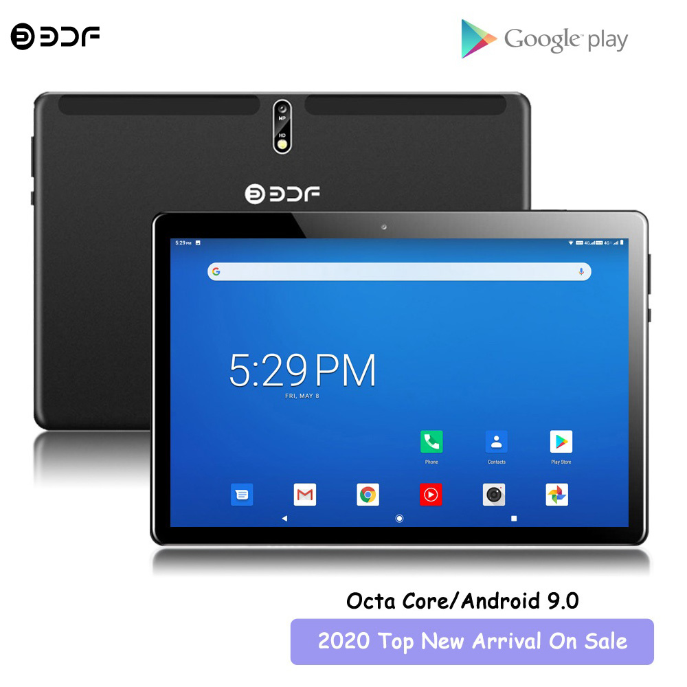 New Arrival 10.1 Inch Tablet Pc Octa Core 4G LTE Phone Android 9.0 CE Brand Google Play Dual SIM Card WiFi Bluetooth GPS Tablets