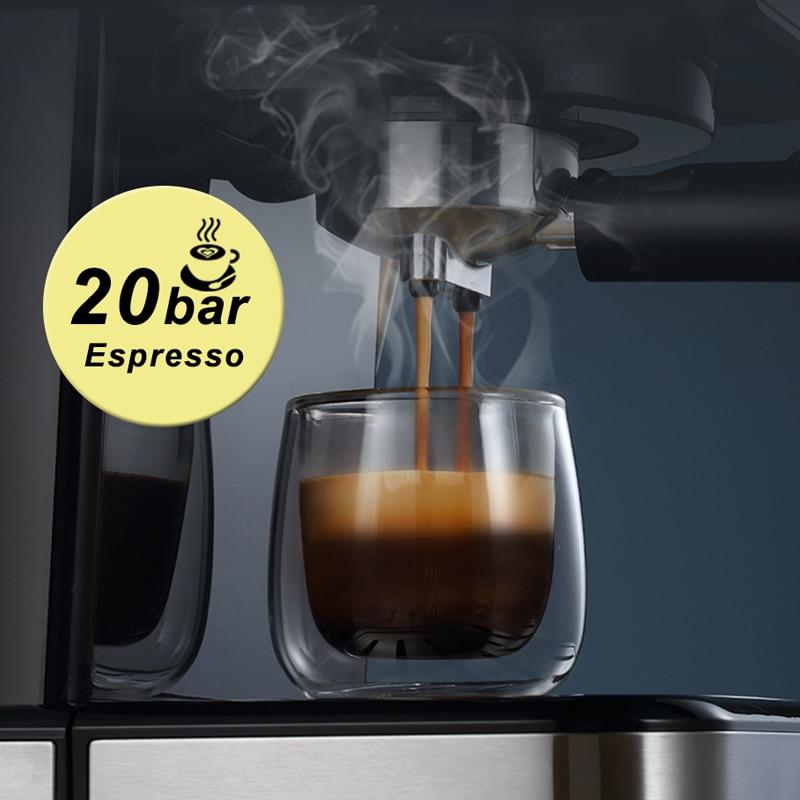 HiBREW 20 Bar Espresso Coffee Machine inox Semi Automatic Expresso Cappuccino Maker Steam Wand Hot Water Temperature Meter H5 3