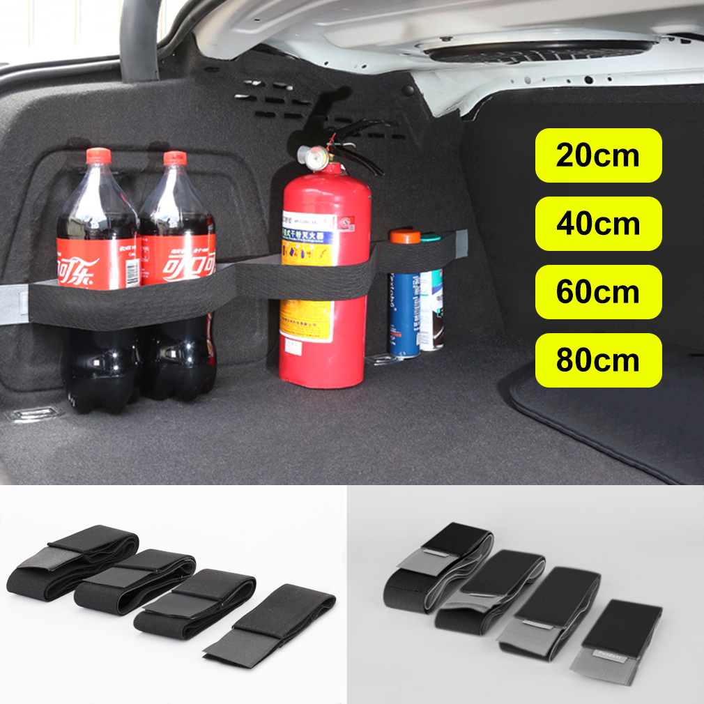 1pcs Car Organizer Stowing Tidying Belt Storage Bag Magic Tapes Fixing Belt 20cm 40cm 60cm 80cm Automobiles Interior Accessorie