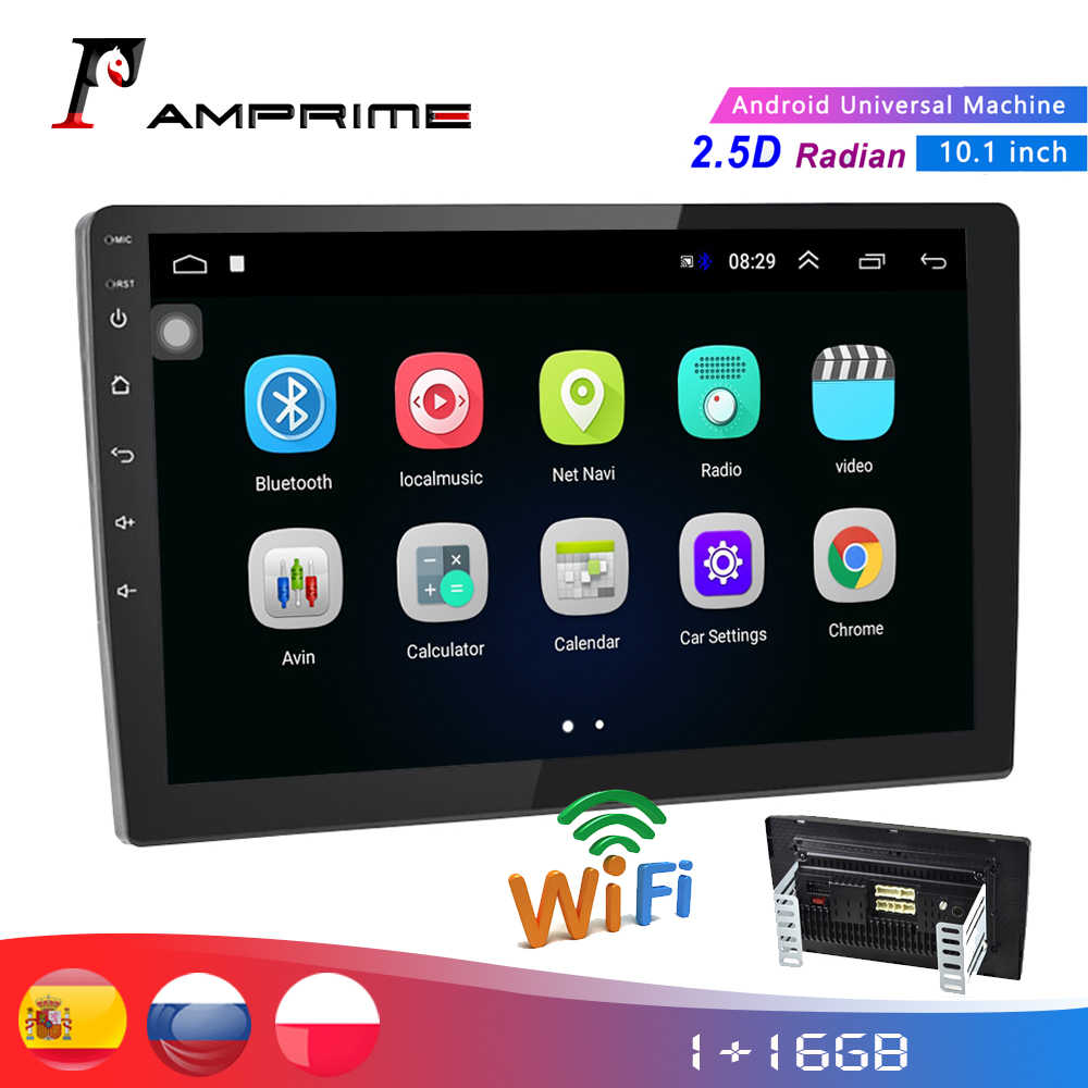 "Amprmie 2Din Mobil Audio Radio 10.1 ""Car Multimedia Player GPS Auto Radio Wifi Bluetooth Cermin Link 2 DIN Mobil audio Stereo"