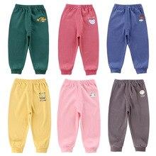 Новинка; модные хлопковые брюки ярких цветов для маленьких мальчиков и девочек; детские мягкие эластичные леггинсы с рисунком; брюки; домашняя одежда; леггинсы; брюки