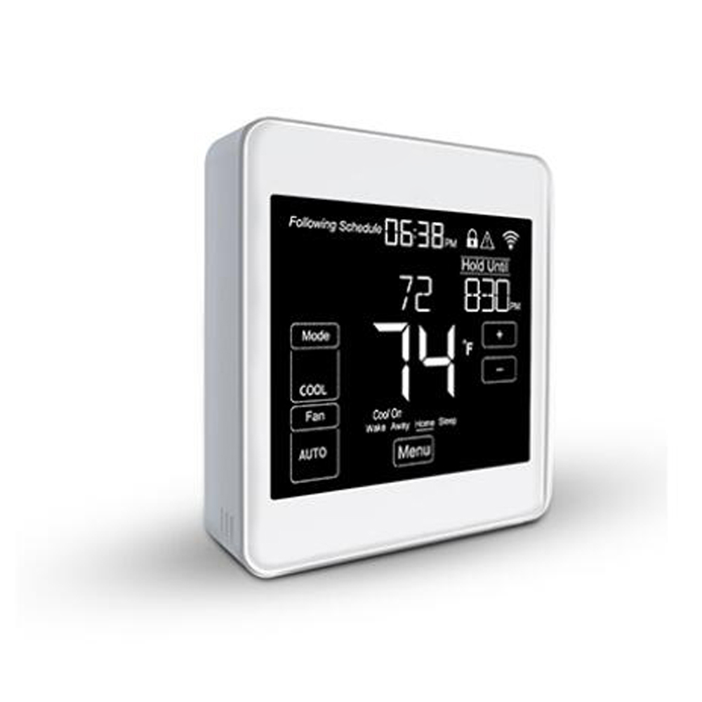 Haozee Smart Home Automation Wifi Fan Coil Thermostat Capacitive Touch Panel And Compatiable With Alexa And Google Home
