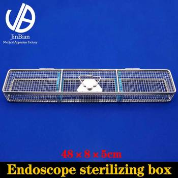 Endoscope sterilizing box surgical operating instrument stainless steel disinfect basket autoclave sterilization
