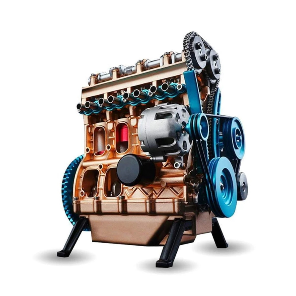 Teching 1:24 Four-Cylinder Engine Full Aluminium Alloy Model Collection Educational Adult Teaching Toys For Children