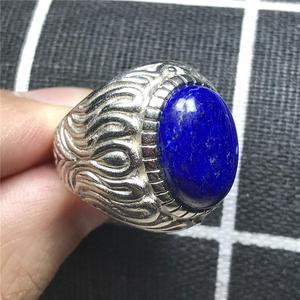 16x12 мм Топ натуральный Королевский Синий Лазурит кольцо ювелирные изделия для мужчины счастливый любовь овальные бусины молитвенный камен...