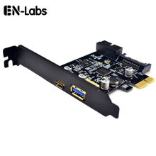 En-Labs PCI-e to 4 Ports USB 3.1 GEN 1 (5Gbps)(USB Type-C +USB Type A  w/ Internal 19Pin 3.0 Dual Port) PCI Express Card
